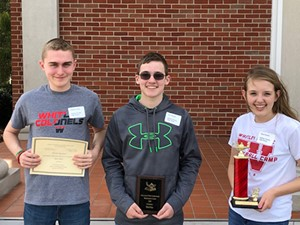 WCHS Math Competition Winners