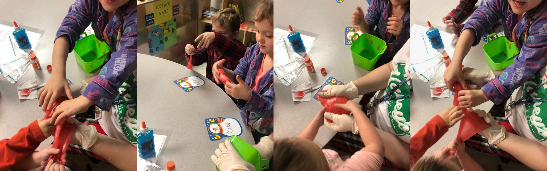 Mrs. Ashley Mays preschool class made slime!