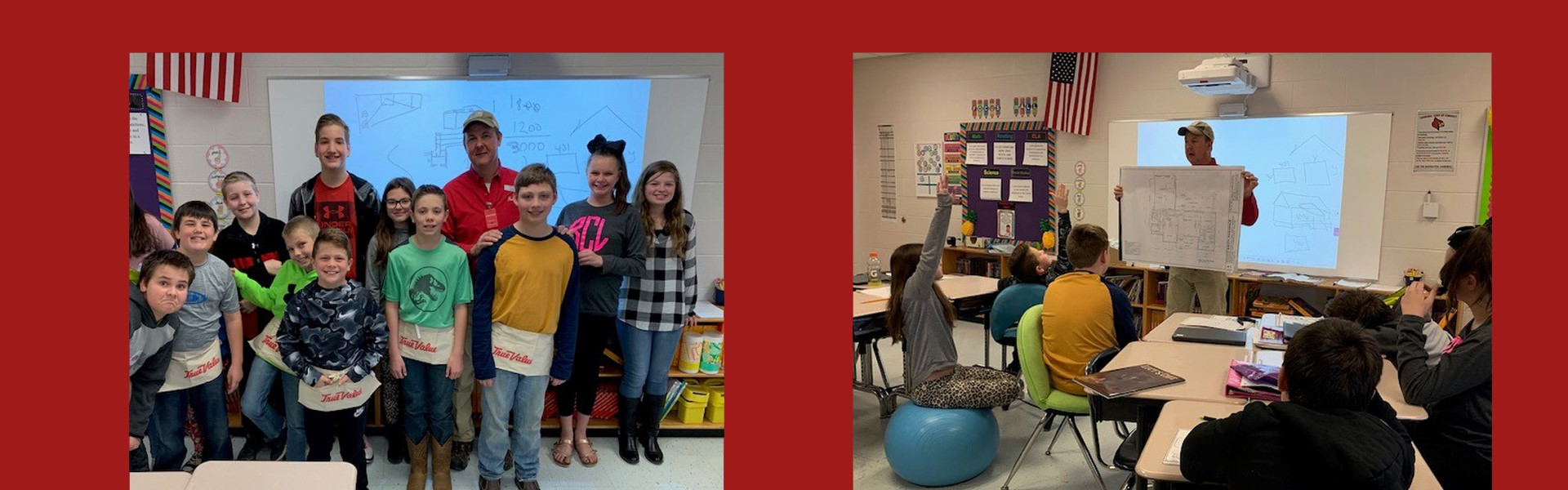 """Students in Ms. Gambrel's 5th grade class were visited by Lee Bryant from W.D. Bryant's ."""