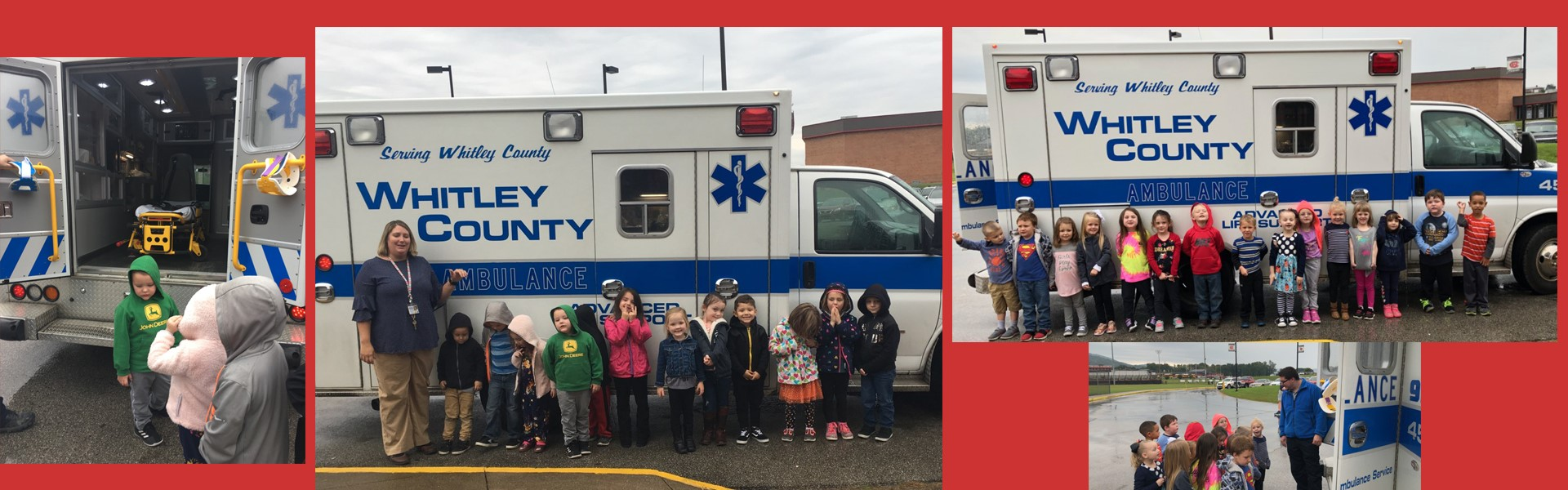 Whitley County EMS came out to visit our Preschool.
